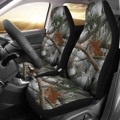 Camo Realistic Tree Forest Pattern Universal Fit Car Seat Covers