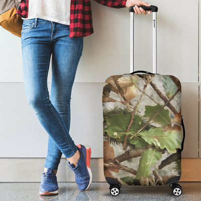 Camo Realistic Tree Forest Print Luggage Cover Protector