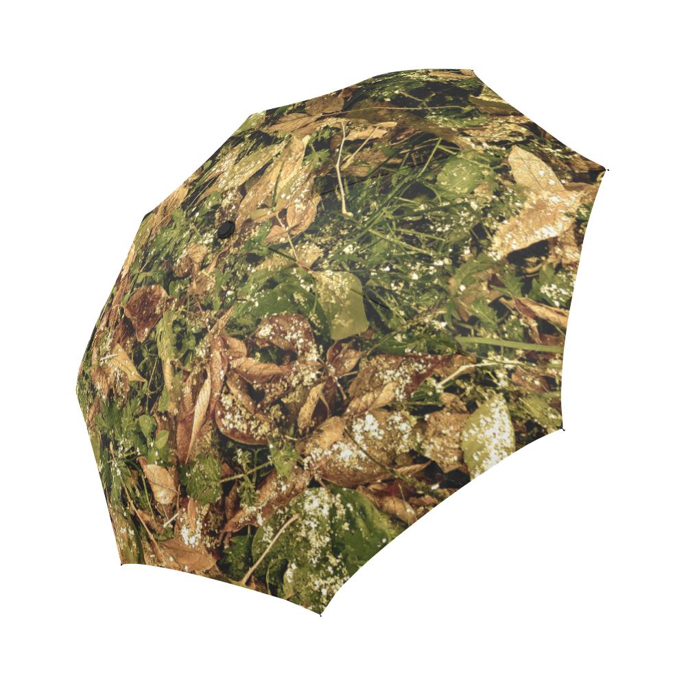 Camo Realistic Tree Forest Texture Print Automatic Foldable Umbrella