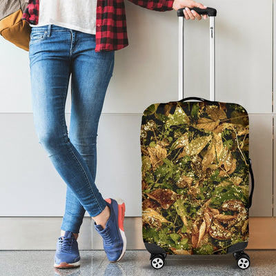 Camo Realistic Tree Forest Texture Print Luggage Cover Protector