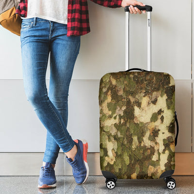 Camo Realistic Tree Texture Print Luggage Cover Protector