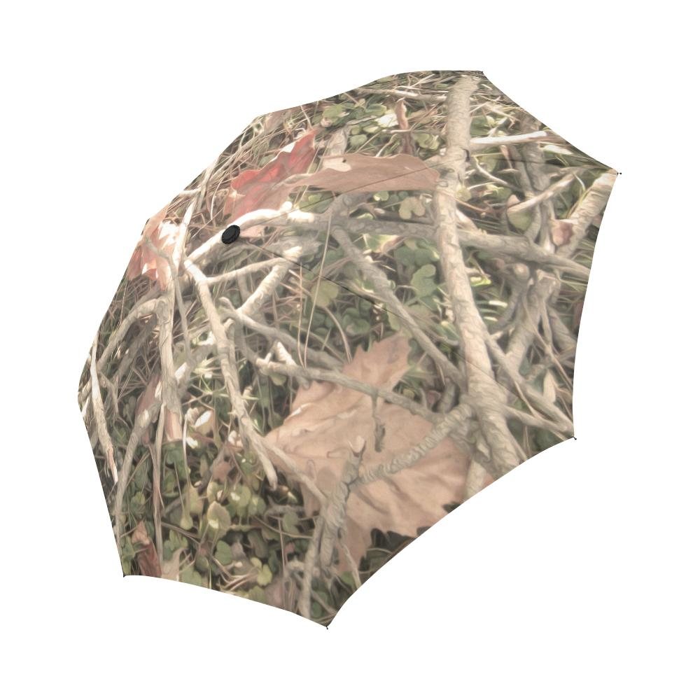 Camouflage Realistic Tree Authumn Print Automatic Foldable Umbrella