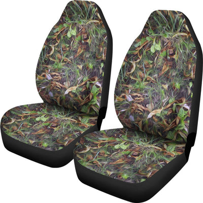 Camouflage Realistic Tree Print Universal Fit Car Seat Covers