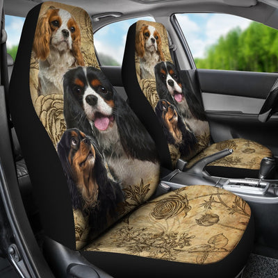 Cavalier King Charles Spaniel Design No1 Print Universal Fit Car Seat Covers