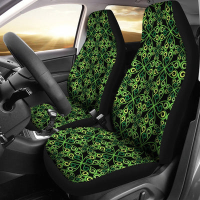 Celtic Green Neon Design Universal Fit Car Seat Covers