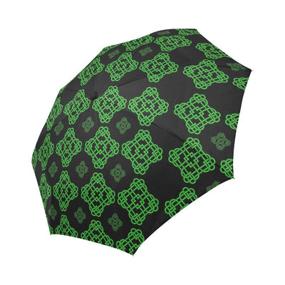 Celtic Knot Green Neon Design Automatic Foldable Umbrella