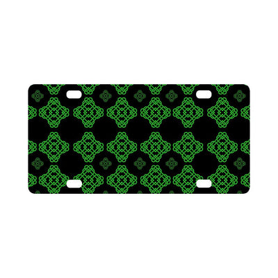 Celtic Knot Green Neon Design Classic License Plate-JTAMIGO.COM