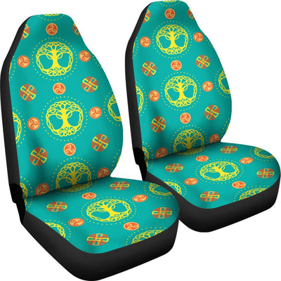 Celtic Tree of Life Print Pattern Universal Fit Car Seat Covers