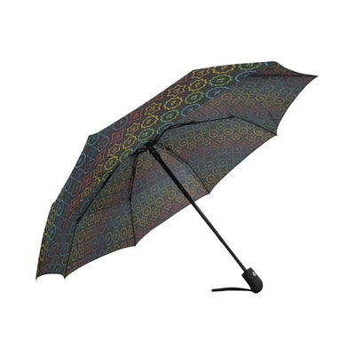 Chakra Colorful Symbol Pattern Automatic Foldable Umbrella