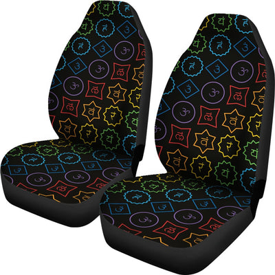 Chakra Colorful Symbol Pattern Universal Fit Car Seat Covers