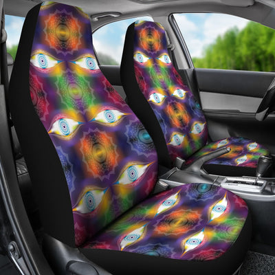 Chakra Eye Print Pattern Universal Fit Car Seat Covers