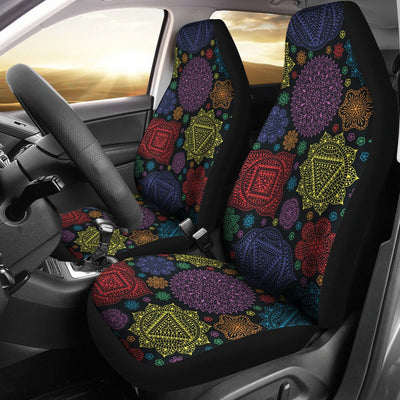Chakra Mandala Print Pattern Universal Fit Car Seat Covers