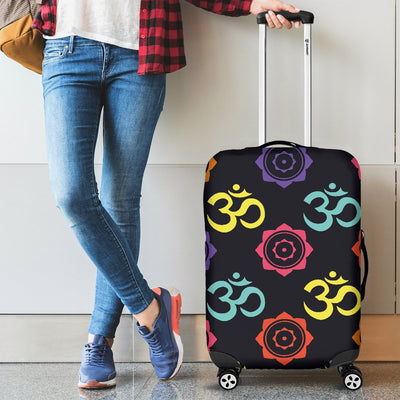 Chakra OM Print Pattern Luggage Cover Protector