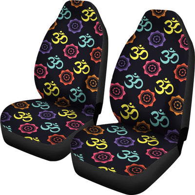 Chakra OM Print Pattern Universal Fit Car Seat Covers