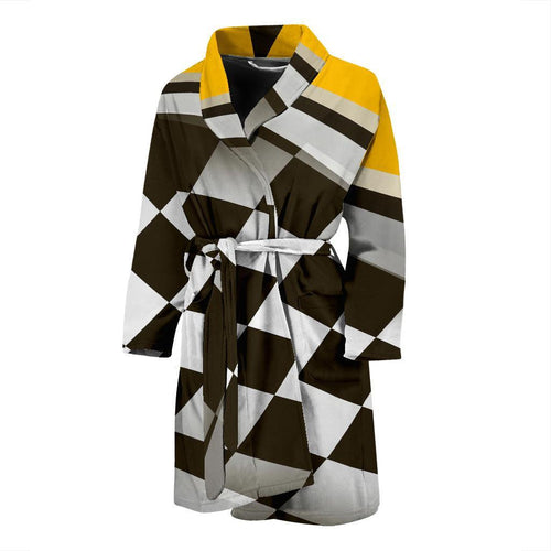 Checkered Flag Racing Style Men Bath Robe-JTAMIGO.COM