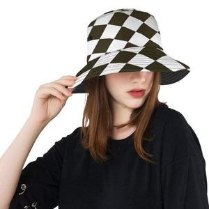 Checkered Flag Racing Style Unisex Bucket Hat