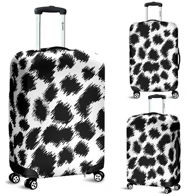 Cheetah Black Print Pattern Luggage Cover Protector