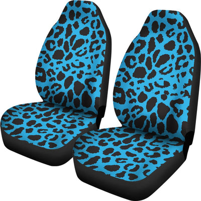 Cheetah Blue Print Pattern Universal Fit Car Seat Covers