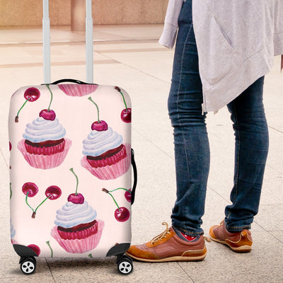 Cherry Cupcake Pink Pattern Luggage Cover Protector