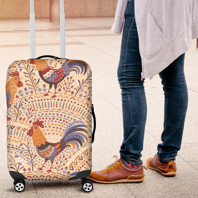 Chicken Boho Style Pattern Luggage Cover Protector
