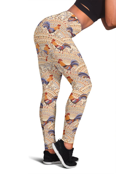 Chicken Boho Style Pattern Women Leggings