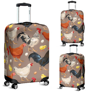 Chicken Evolution Pattern Luggage Cover Protector