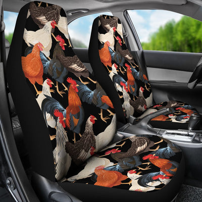Chicken Print Pattern Universal Fit Car Seat Covers