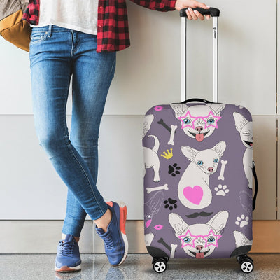 Chihuahua Happy Pattern Luggage Cover Protector