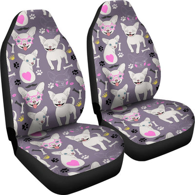 Chihuahua Happy Pattern Universal Fit Car Seat Covers
