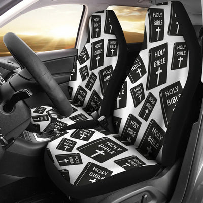 Christian Holy Bible Book Pattern Universal Fit Car Seat Covers