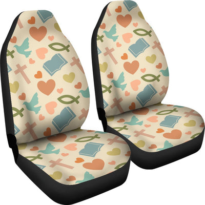 Christian Symbol Pattern Universal Fit Car Seat Covers