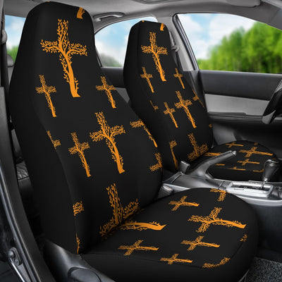 Christian Tree of Life Cross Design Universal Fit Car Seat Covers