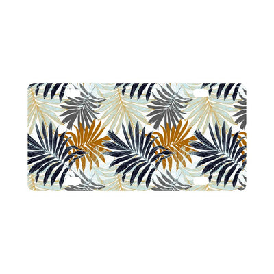 Colorful Tropical Palm Leaves Classic License Plate-JTAMIGO.COM
