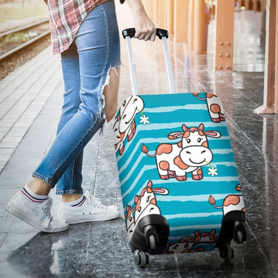 Cow Cute Print Pattern Luggage Cover Protector