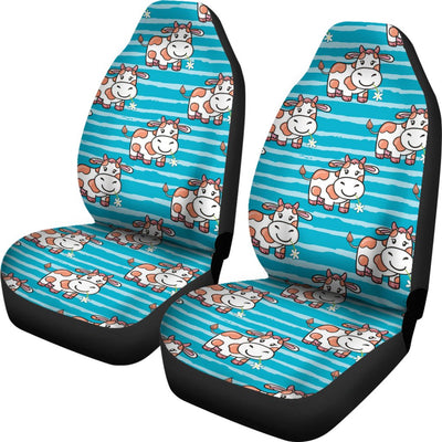 Cow Cute Print Pattern Universal Fit Car Seat Covers