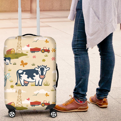 Cow Farm Design Print Luggage Cover Protector