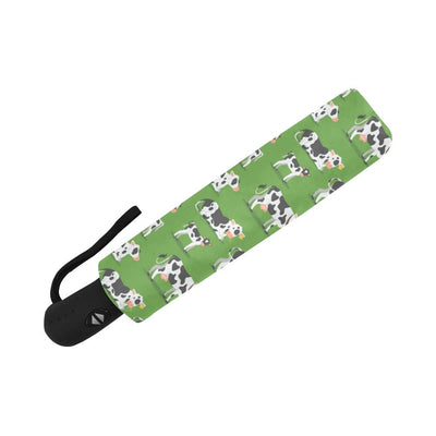 Cow Happy Print Pattern Automatic Foldable Umbrella