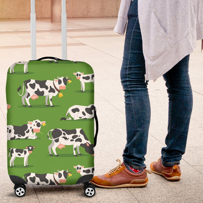 Cow Happy Print Pattern Luggage Cover Protector