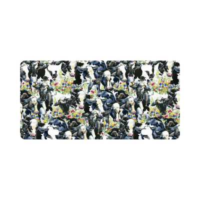 Cow Watercolor Print Pattern Classic License Plate-JTAMIGO.COM