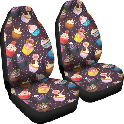 Cupcakes Party Print Pattern Universal Fit Car Seat Covers