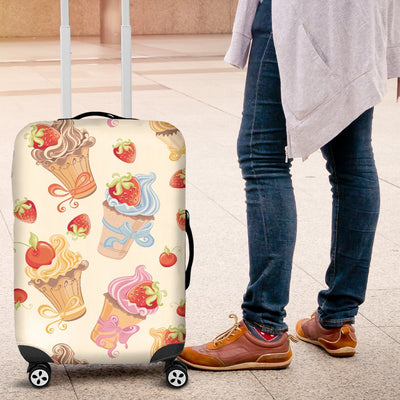 Cupcakes Strawberry Cherry Print Luggage Cover Protector