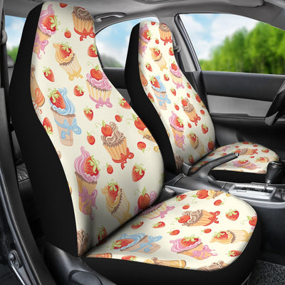 Cupcakes Strawberry Cherry Print Universal Fit Car Seat Covers