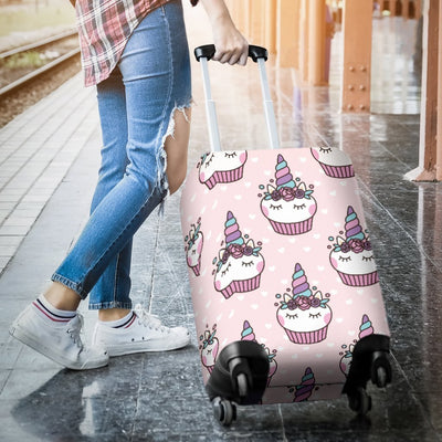 Cupcakes Unicorn Print Pattern Luggage Cover Protector