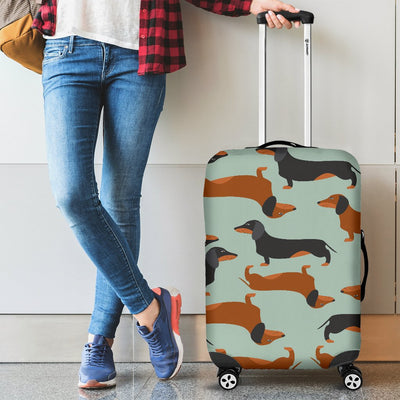 Dachshund Cute Print Pattern Luggage Cover Protector