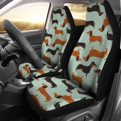 Dachshund Cute Print Pattern Universal Fit Car Seat Covers