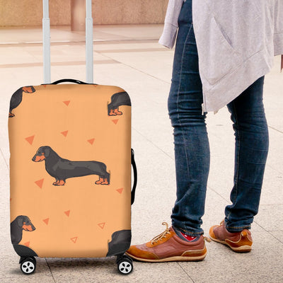 Dachshund Draw Print Pattern Luggage Cover Protector