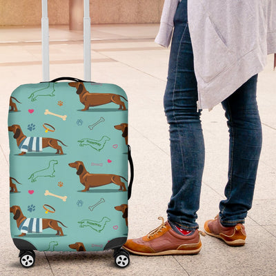 Dachshund Paw Decorative Print Pattern Luggage Cover Protector