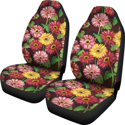 Daisy Gerbera Print Pattern Universal Fit Car Seat Covers