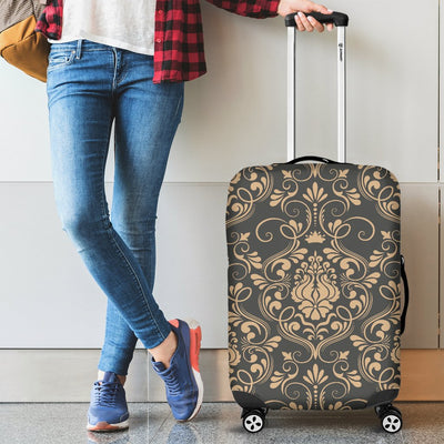 Damask Elegant Luxury Print Pattern Luggage Cover Protector