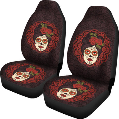Day of the Dead Mexican Girl Universal Fit Car Seat Covers